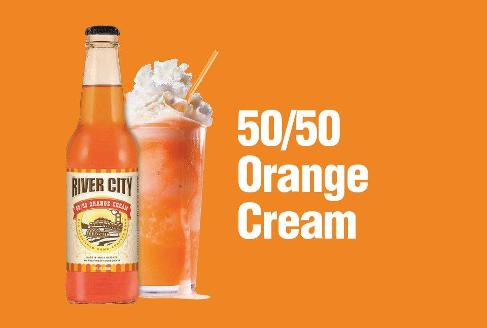 river city orange cream bottle and float