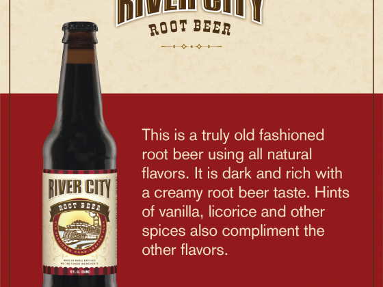 rootbeer bottle and igredients